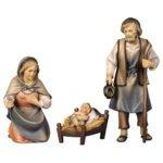 Frontansicht von der Heiligen Familie aus der Krippenfigurenserie